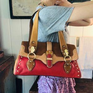 ♥️ Michael Kors ♥️ Red Leather Shoulder Bag